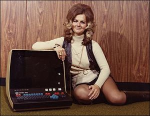 70s lady with computer