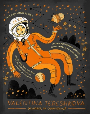 These Beautiful Women in Science Art Prints Feature Rad As Heck Ladies.